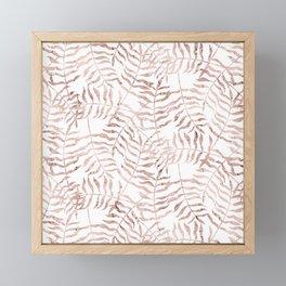 Rose Gold Leaves 1 Framed Mini Art Print