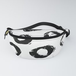 Brushed Dots Black and White Fanny Pack