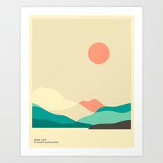 MT. RAINIER NATIONAL PARK, SNOW LAKE Art Print