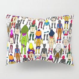 Superhero Butts - Girls Superheroine Butts LV Pillow Sham