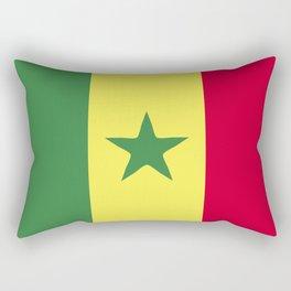 Senegal flag emblem Rectangular Pillow
