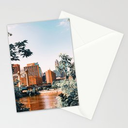 Minneapolis Minnesota Skyline and Architecture Stationery Cards