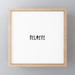 I Believe Yeti Bigfoot Sasquatch Framed Mini Art Print