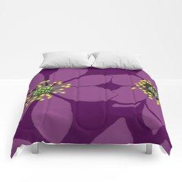 Violet flowers Comforters