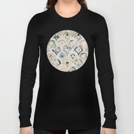 Art Deco Marble Tiles in Soft Pastels Long Sleeve T-shirt