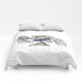 Beautiful Blue Jay Comforters