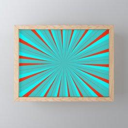Sparkle Neon Aqua Turquoise Red Framed Mini Art Print