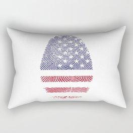 American Flag Thumbprint Rectangular Pillow