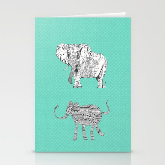 two ways to see one elephant Stationery Cards