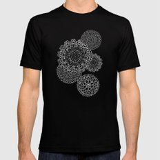 Delightful Doilies - Bittersweet Black Mens Fitted Tee MEDIUM