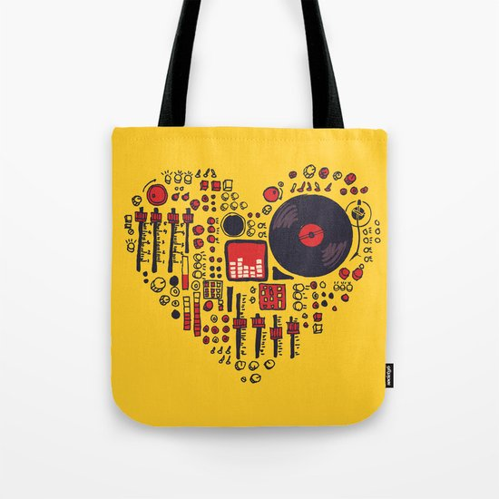 Music in every heartbeat Tote Bag