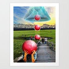 Interspatial Field Art Print