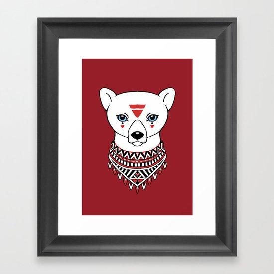 Tribal Bear Framed Art Print