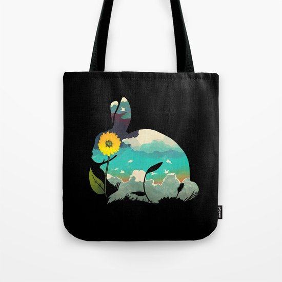 Rabbit Sky Tote Bag