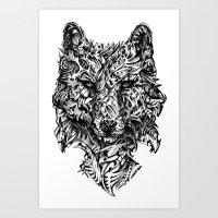 hunter Art Prints featuring Hunter by René Campbell