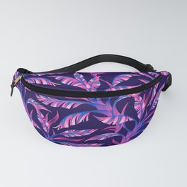 Paradise Leaves - Pink / Blue Fanny Pack