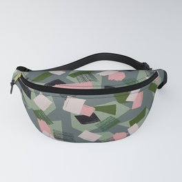 Geo Brush Green Fanny Pack