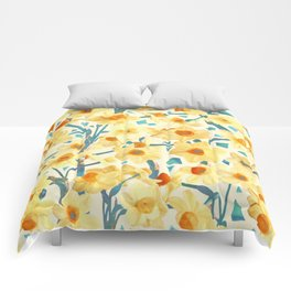 Yellow Jonquils Comforters