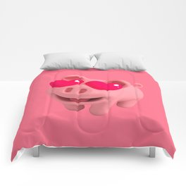 Rosa the Pig love Eyes Comforters
