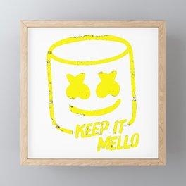 Marshmello - Keep It Mello Yellow Framed Mini Art Print