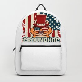 Happy Groundhog Day design Proud Patriotic Awesome Gift Backpack