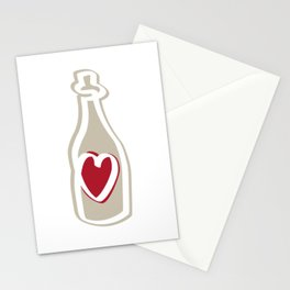Heart in a bottle Stationery Cards