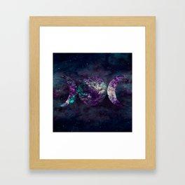 Triple Moon Goddess Universe Framed Art Print