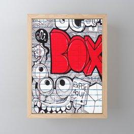 Ali red box Framed Mini Art Print
