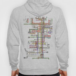 Colorful electric scheme Hoody