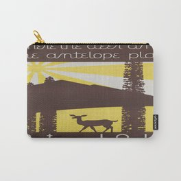 Vintage poster - National parks Carry-All Pouch