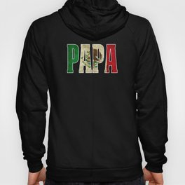 Mexican Design For Mexican Flag Design For Papa Mexican Pride Vintage Outline Hoody