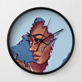 Blue Haired Bombshell Wall Clock