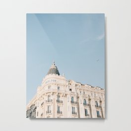 Carlton hotel Cannes South of France Riviera | Architecture photography print | Pastel colored Metal Print