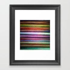 Happy rainbow water colors Framed Art Print