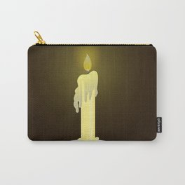 Candle on dark background Carry-All Pouch