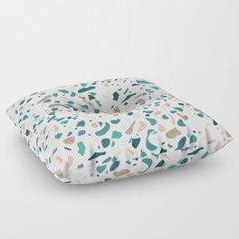 Terrazzo Turquoise Pattern Floor Pillow