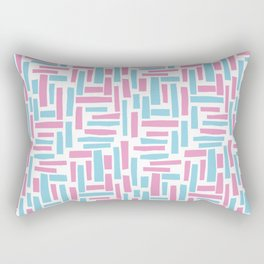 Pink and blue geometric pattern. Rectangular Pillow