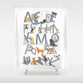 Dog Breed Alphabet Shower Curtain