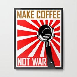 Japanese Propaganda Coffee Poster Metal Print
