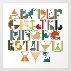 geometric alphabet v1 Art Print
