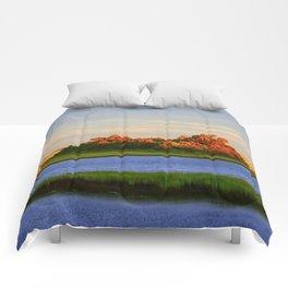 Orange Fall Intercoastal Tree Tops Painting Comforters