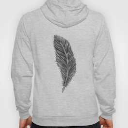 Long Feather - black and white Hoody
