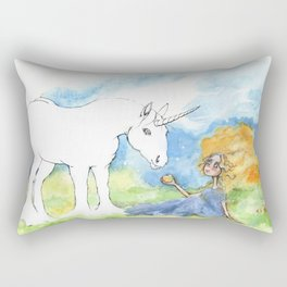 Color your own unicorn Rectangular Pillow