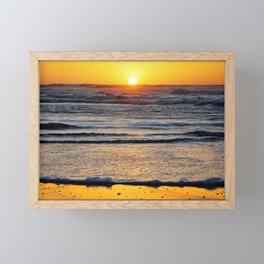 Yellow Beach Sunset Framed Mini Art Print