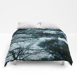 Blue Winter Trees Comforters