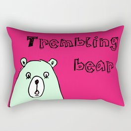Trembling bear Rectangular Pillow