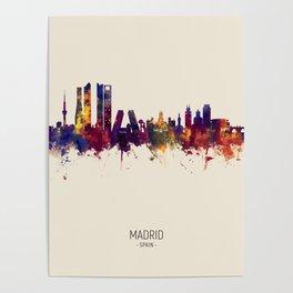 Madrid Spain Skyline Poster