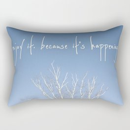 perks of being a wallflower - life is happening Rectangular Pillow