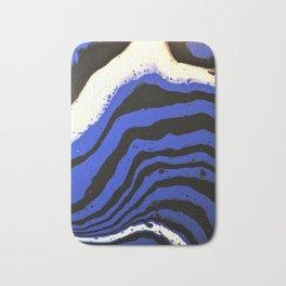 Zebra wears blue. Abstract Acrylic Animal prints Bath Mat