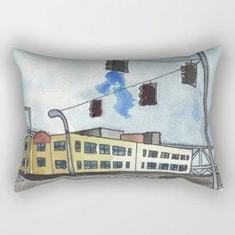 fremont corner // seattle watercolor Rectangular Pillow